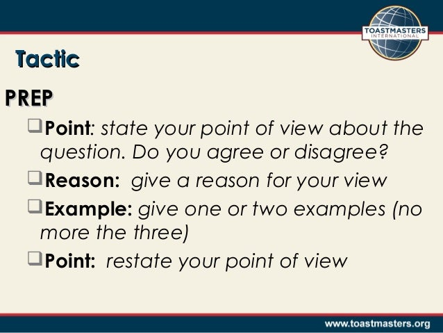 Toastmasters Table Topics Questions