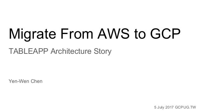 Tableapp architecture migration story for GCPUG.TW Slide 2