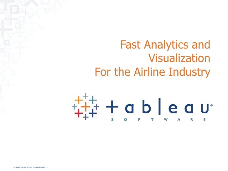 Fast Analytics and Visualization For the Airline Industry