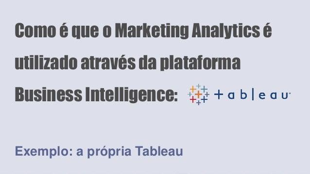 Como é que o Marketing Analytics é utilizado através da plataforma Business Intelligence: Exemplo: a própria Tableau