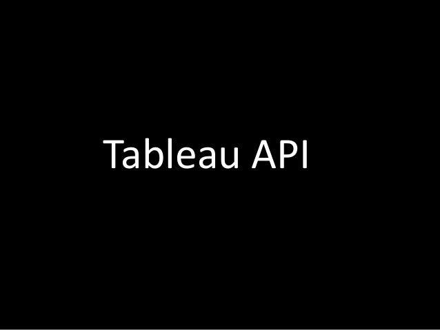 Tableau API