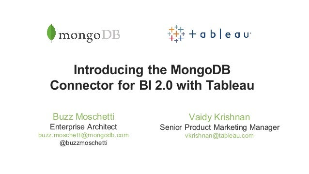 Webinar: Introducing the MongoDB Connector for BI 2 0 with