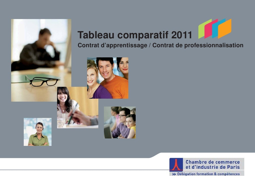 Tableau comparatif 2011Contrat d'apprentissage / Contrat de professionnalisation