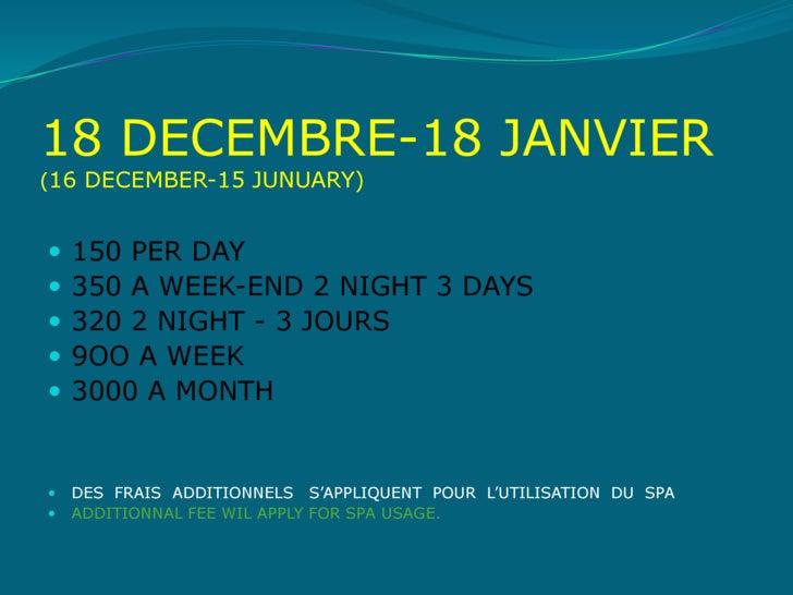 TABLEAU D'AFFICHAGE DES PRIX Slide 3