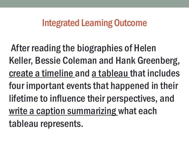 Tableau timeline biography