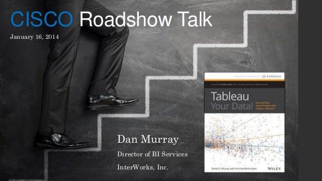 CISCO Roadshow Talk January 16, 2014  Dan Murray Director of BI Services InterWorks, Inc.