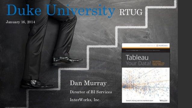 Duke University RTUG January 16, 2014  Dan Murray Director of BI Services InterWorks, Inc.