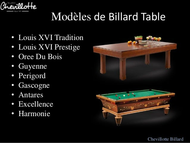 table de billard mod les moderne chevillotte. Black Bedroom Furniture Sets. Home Design Ideas