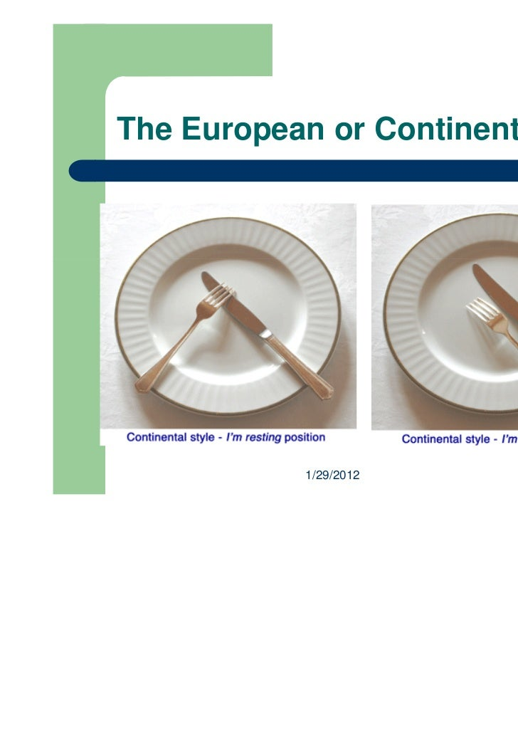 Table Etiquette - Silverware placement on table