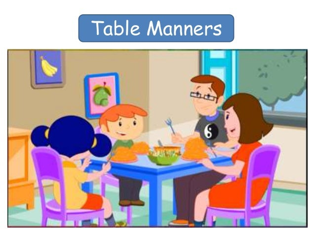Table manners for Table etiquette
