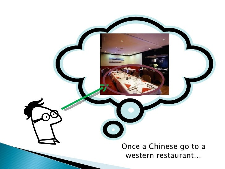 chinese and western table manner The research of the differences between chinese and western diet cultures diet ways, and table manners.