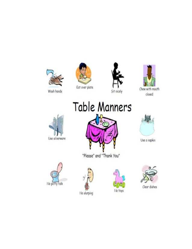 Kids for table manners Table Manners
