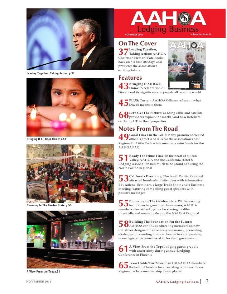 NOVEMBER 2011                                            Volume 10, Issue 11                                        On The...