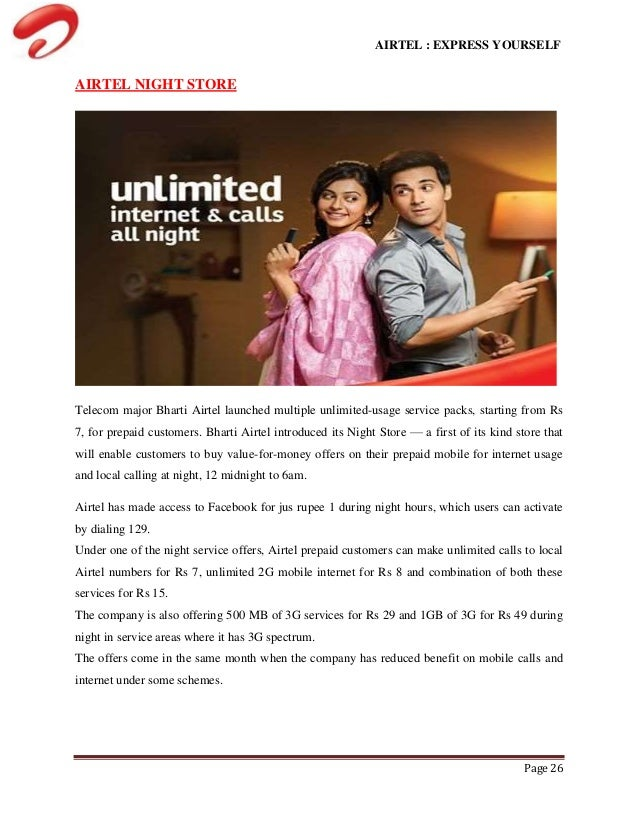 A study on customer satisfaction on airtel prepaid services