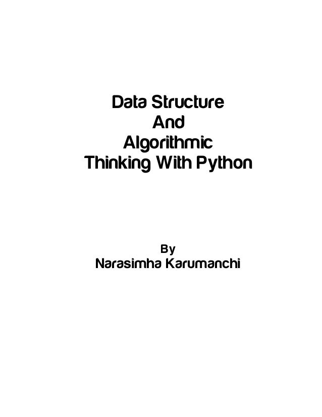 Table of contents [data structure and algorithmic thinking
