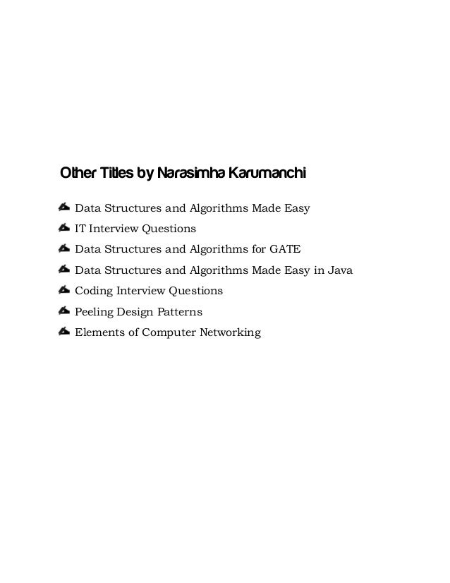 Data structures and algorithms in java by narasimha