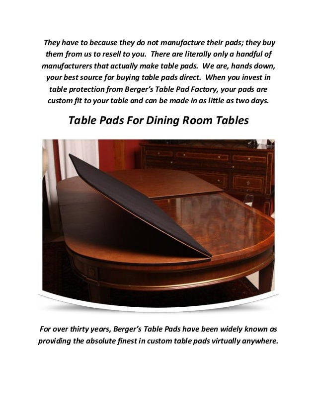 Affordable Top Quality Tables Pads For Dining Room - Table pad manufacturers