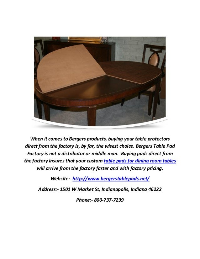 Affordable Top Quality Tables Pads For Dining Room - Table pads indianapolis