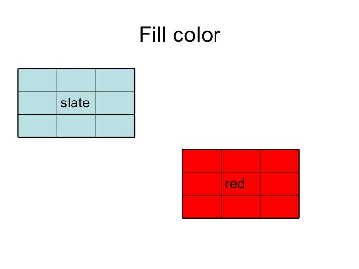 Fill color slate red