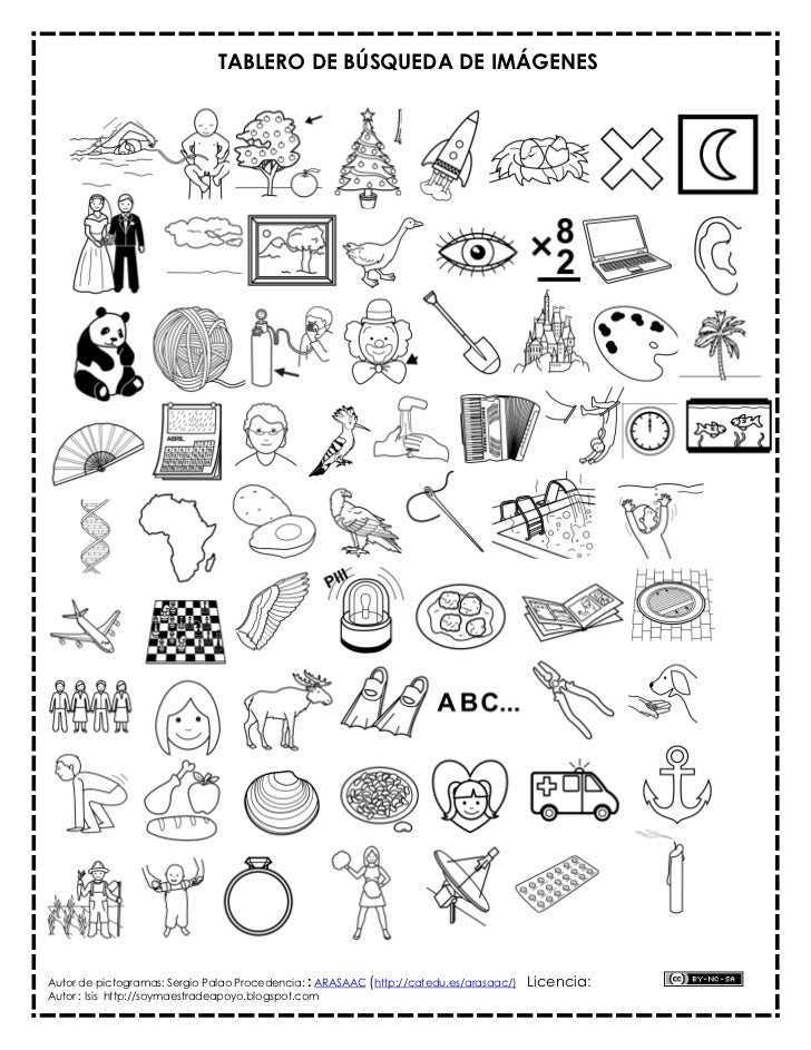 TABLERO DE BÚSQUEDA DE IMÁGENESAutor de pictogramas: Sergio Palao Procedencia: : ARASAAC (http://catedu.es/arasaac/)   Lic...