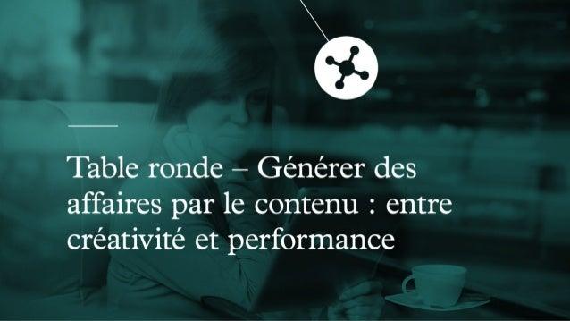 MUTATION - Générer des affaires par le contenu : entre créativité et performance