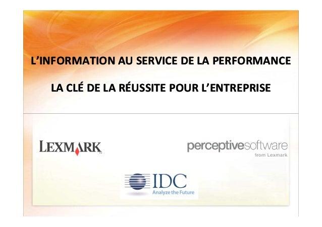 Table ronde inauguration solution center lexmark Slide 2