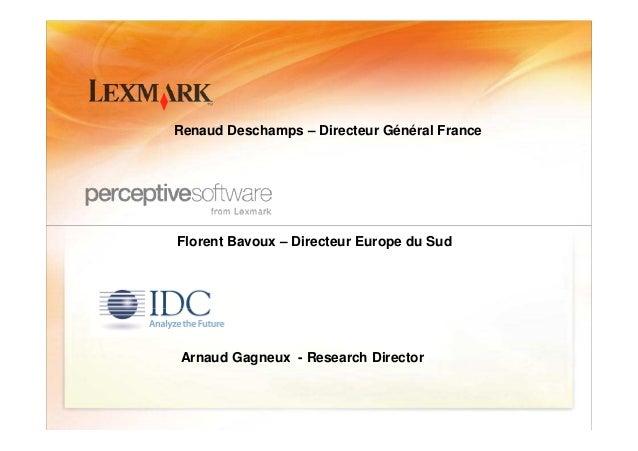 Table ronde inauguration solution center lexmark Slide 3