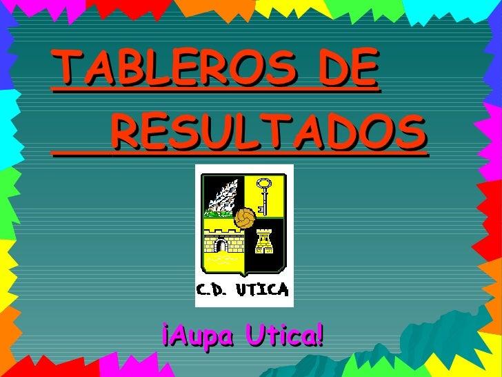 TABLEROS DE RESULTADOS ¡Aupa Utica!