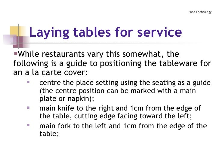 ... 19. Laying tables ...  sc 1 st  SlideShare & Table Setting