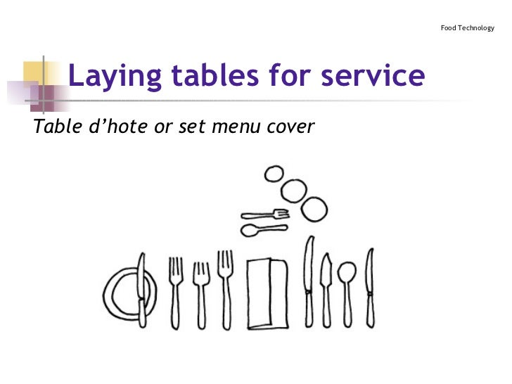 ... 22. Laying tables ...  sc 1 st  SlideShare : ala carte table setting - pezcame.com