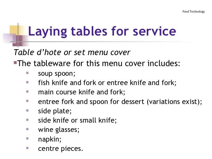 ... 23.  sc 1 st  SlideShare & Table Setting
