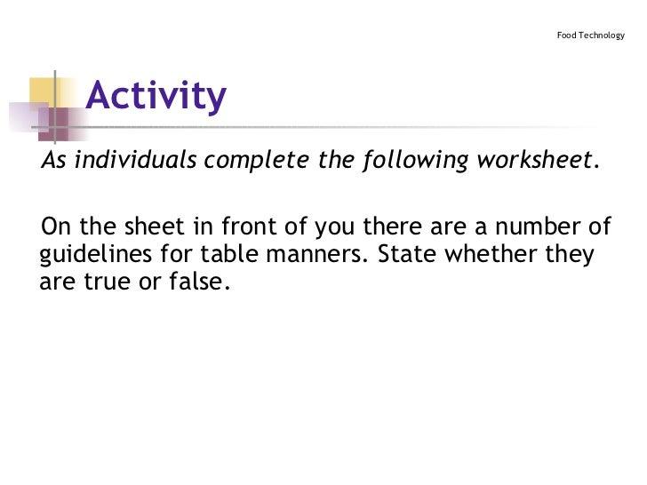 Activity ...  sc 1 st  SlideShare & Table Setting