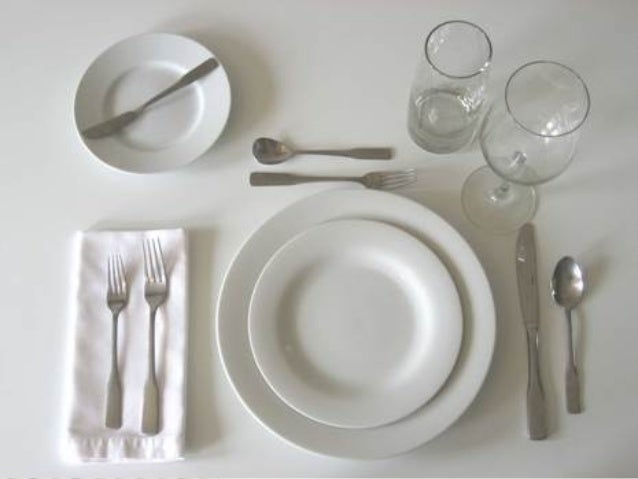 Page 4; 5. & Table setting and meal service