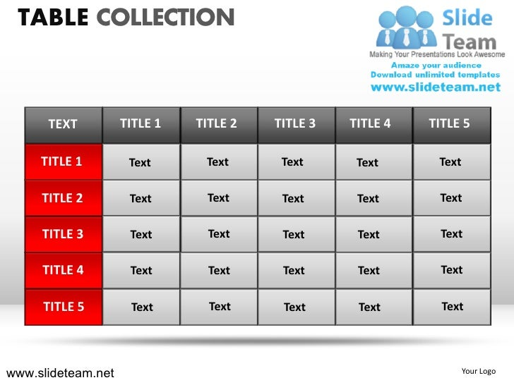 tables matrix collection powerpoint ppt templates