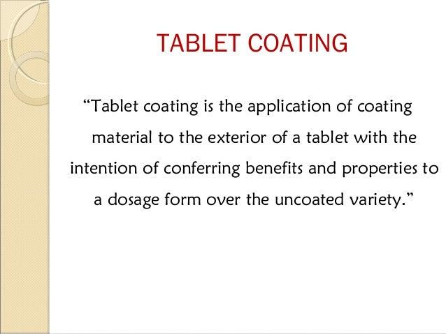 Tablet coating Slide 2