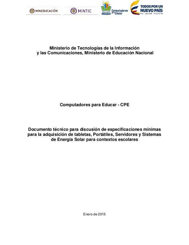 Ministerio de Tecnologías de la Información y las Comunicaciones, Ministerio de Educación Nacional Computadores para Educa...