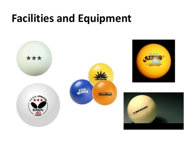 Table tennis - Equipment for table tennis ...