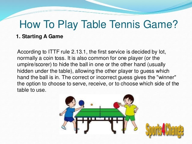 Table tennis rackets online - Serving in table tennis rules ...