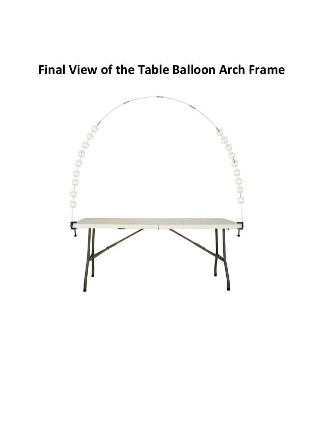 Tabletop Balloon Arch Building - Party Zealot