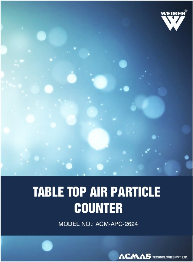 Table Top Air Particle Counter by ACMAS Technologies Pvt Ltd