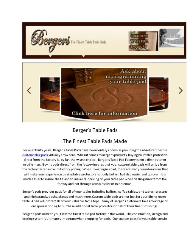 Table Top Covers By Bergers Table Pad Factory In Indiana - Berger's table pad factory indianapolis in