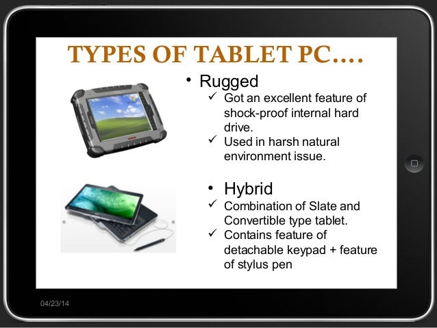 Tablet pc will be the future of computer