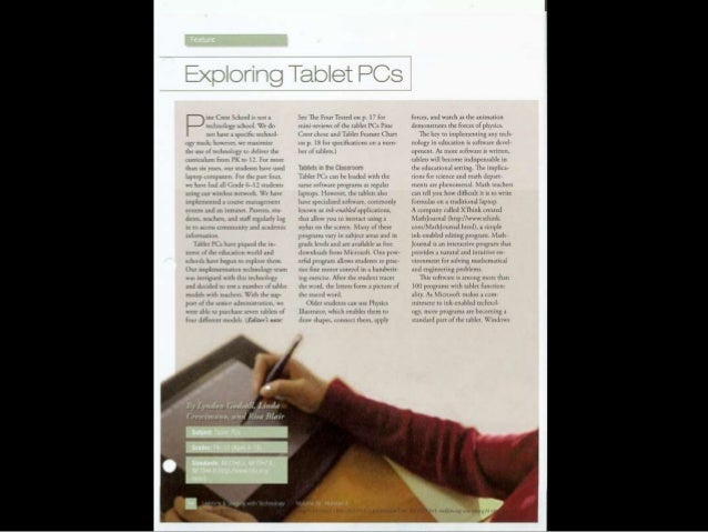 Tablet p cs article