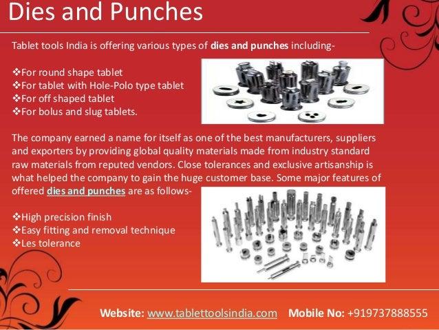 Tablet Punching Machine, Rotary Tablet Press Machine, Dies