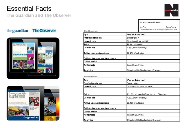 Essential FactsThe Guardian and The Observer                                                                              ...