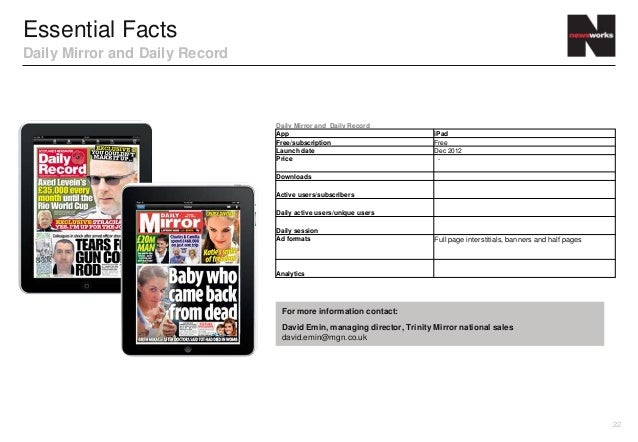 Essential FactsDaily Mirror and Daily Record                                Daily Mirror and Daily Record                 ...