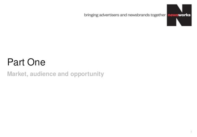 Part OneMarket, audience and opportunity                                   3