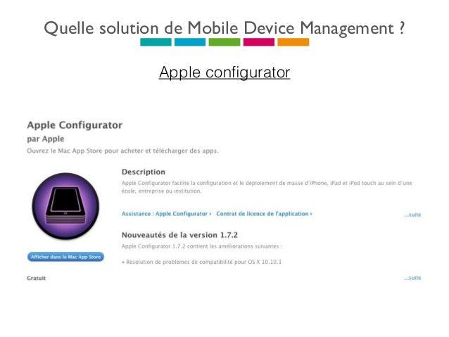 Quelle solution de Mobile Device Management ? Google apps for Work