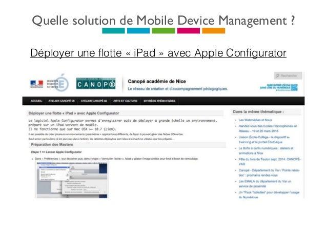 Quelle solution de Mobile Device Management ?