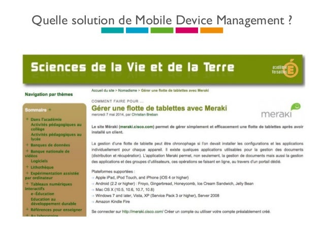 Quelle solution de Mobile Device Management ? :-(